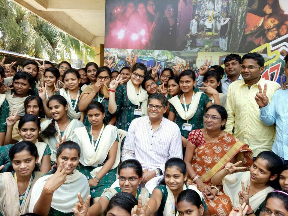 MP Baijayant Jay Panda at Kalahandi's Shastri Women's College in Bhawanipatna