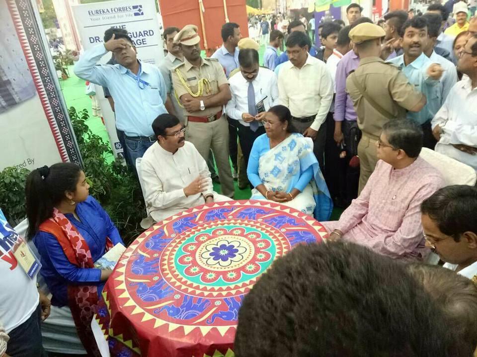 MP Baijayant Jay Panda interacting with organizers at Utkal Diwas