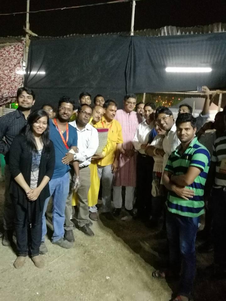 MP Baijayant Jay Panda with members of Odia community at Utkal Diwas
