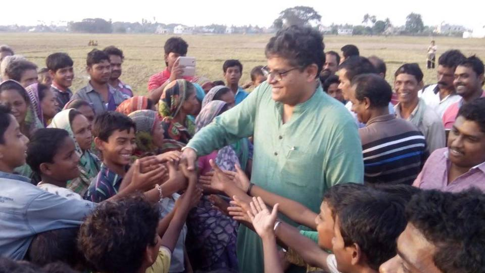 MP  Baijayant Jay Panda taking feedback from youngsters