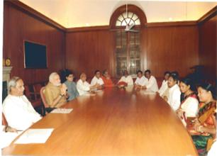 MP Baijayant Jay Panda meets Prime Minister Narendra Modi and Chief Minister Naveen Pattnaik