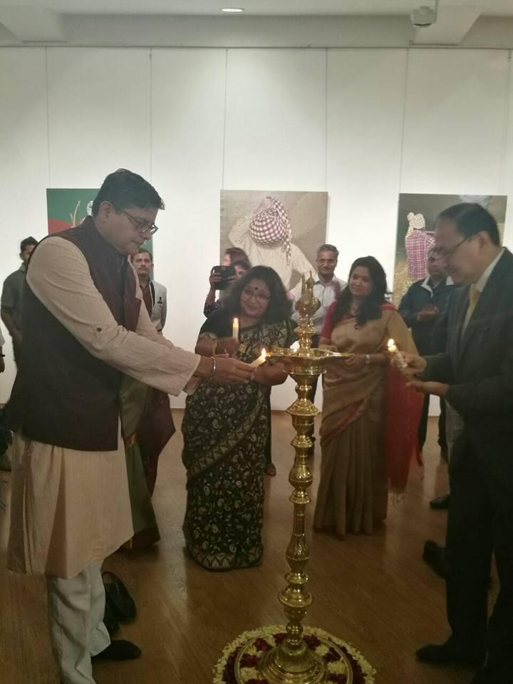 MP Baijayant Jay Panda at the inauguration of an exhibition of Odia artists at Lalit Kala Akademi in Delhi (3)