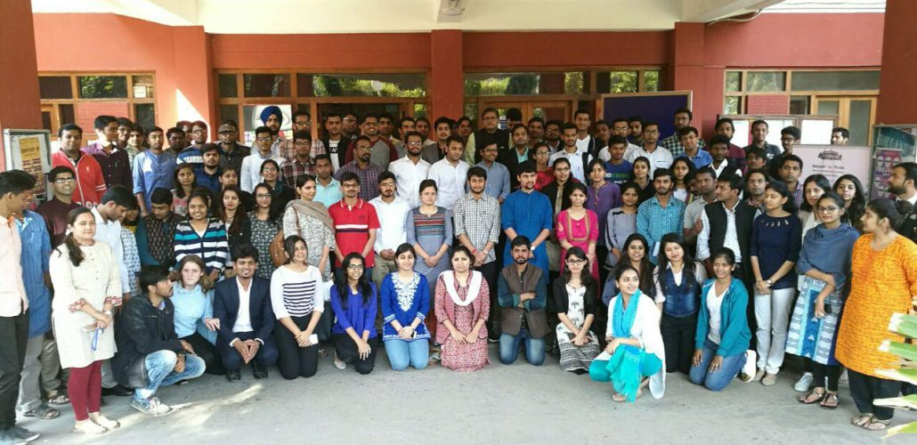 MP Baijayant Jay Panda with participants at Delhi Workshop